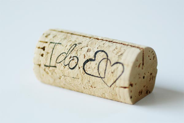 Custom Wine Cork Place Card Holders