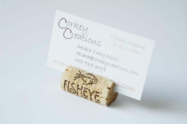 Horizontal Wine Cork Place Card Holders