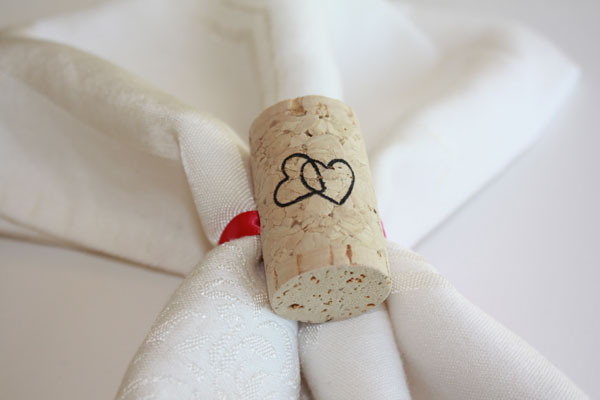 wine cork napkin rings   corkey creations